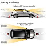 KKmoon Front and Rear Car Reverse Backup Radar System, 8 Parking Sensors Cars Parking Assist Reversing Radar with LED Display and Sound Warning