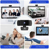 2021 AutoFocus 1080p Webcam with Stereo Microphone and Privacy Cover, NexiGo FHD USB Web Camera, for Streaming Online Class, Compatible with Zoom/Skype/Facetime/Teams, PC Mac Laptop Desktop