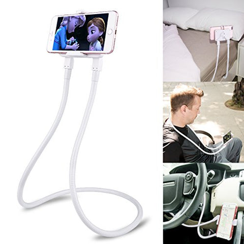 B-Land Cell Phone Holder, Universal Mobile Phone Stand, Lazy Bracket, DIY Flexible Mount Stands with Multiple Function (White)