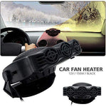 Car Heater, Portable Car 2 in 1 Cooler & Heater Fan Vehicle Electronic Air Heater 12V 150W Car Windshield Heater Defogger Demister Defroster Plug Into Cigarette Lighter