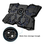Cooling Pad for 15.6-17-Inch Laptops with Four 120mm Fans at 1200 RPM, Black