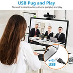 BELONGME Webcam with Microphone, 1080P HD Streaming USB Computer Webcam [Plug and Play] [30fps] for Laptop/Desktop Mac, PC Video Conferencing/Calling/Gaming, Skype/Zoom/Facetime