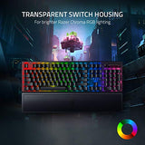 Razer BlackWidow V3 Mechanical Gaming Keyboard: Yellow Mechanical Switches - Linear & Silent - Chroma RGB Lighting - Compact Form Factor - Programmable Macro Functionality - USB Passthrough