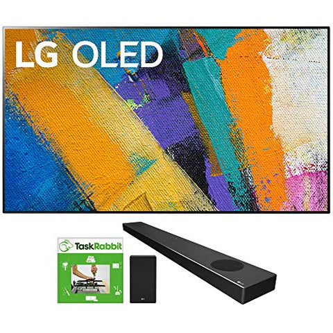 LG OLED65GXPUA 65-inch GX 4K Smart OLED TV with AI ThinQ (2020 Model) Bundle SN9YG 5.1.2 ch High Res Audio Sound Bar with Dolby Atmos and Google Assistant + TaskRabbit Installation Services