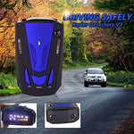 Laser Radar Detector for Cars, Prompt Speed, City/Highway Mode, 360 Degree Detection Policy Radar Detectors Kit with LED Display (Blue)