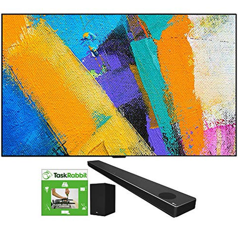 LG OLED65GXPUA 65-inch GX 4K Smart OLED TV with AI ThinQ (2020 Model) Bundle SN10YG 5.1.2 ch High Res Audio Sound Bar with Dolby Atmos and Google Assistant + TaskRabbit Installation Services
