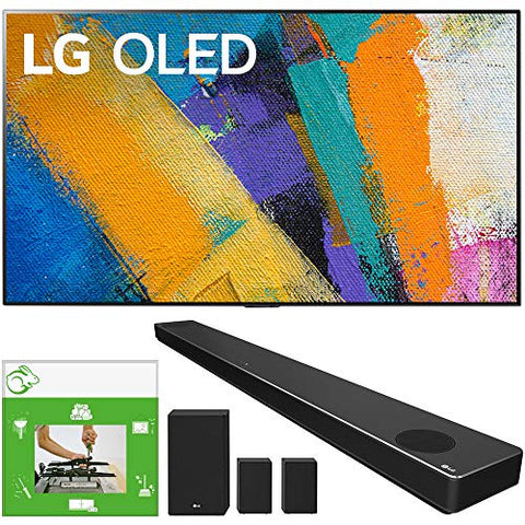 LG OLED55GXPUA 55-inch GX 4K Smart OLED TV with AI ThinQ (2020 Model) Bundle SN11RG 7.1.4 ch High Res Audio Sound Bar with Dolby Atmos and Surround Speakers + TaskRabbit Installation Services