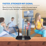 Linksys EA6350 Dual-Band Wi-Fi Router for Home (AC1200 Fast Wireless Router),Black
