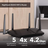 NETGEAR Nighthawk 5-Stream AX5 WiFi 6 Router (RAX43) – AX4200 Wireless Speed (Up to 4.2 Gbps) | 2,000 sq. ft. Coverage