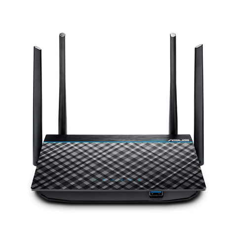 ASUS RT-ACRH13 AC1300 Dual Band WiFi Router with 4 Gigabit LAN Ports, Easy App setup, VPN, Parental Control, MU-MIMO, USB 3.0 port, Gaming, 4K Streaming