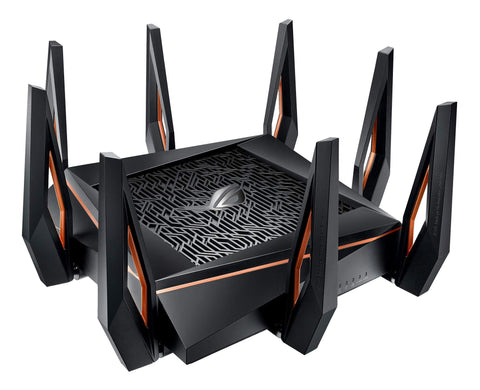 ASUS RT-AX89X AX6000 Dual Band WiFi 6 Router, 802.11ax 6000Mbps, Lifetime Free Internet Security, AiMesh, MU-MIMO, 8 Gb LAN Ports, Dual 10G Ports (10GBase-T & 10G SFP+), VPN, Gaming