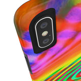 the color cool rainbow Tough Phone Cases