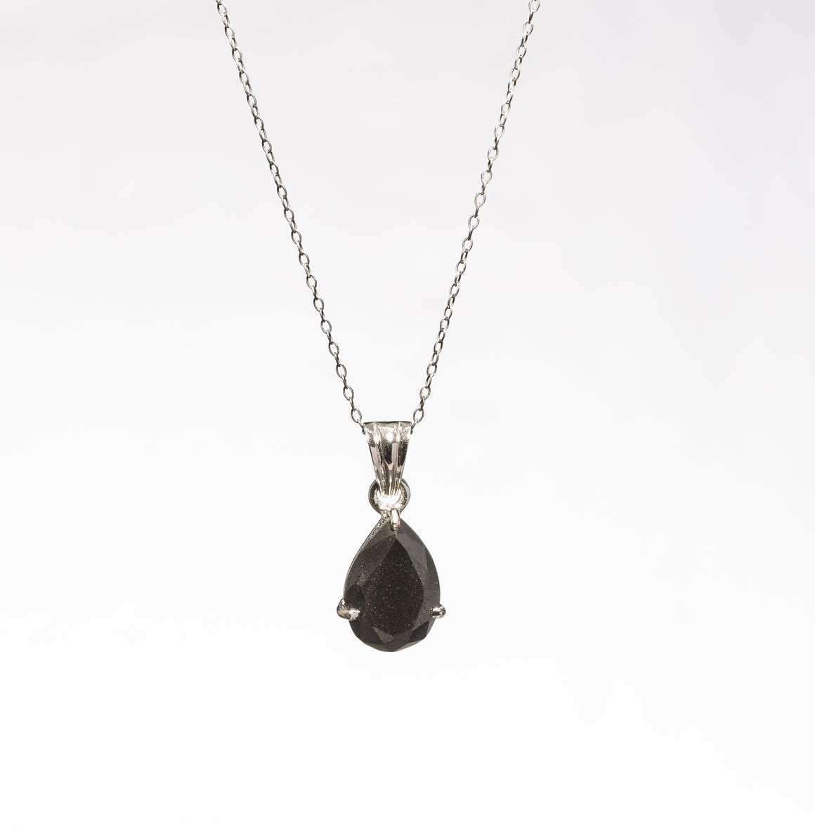 Black Diamond Pendant - Pear