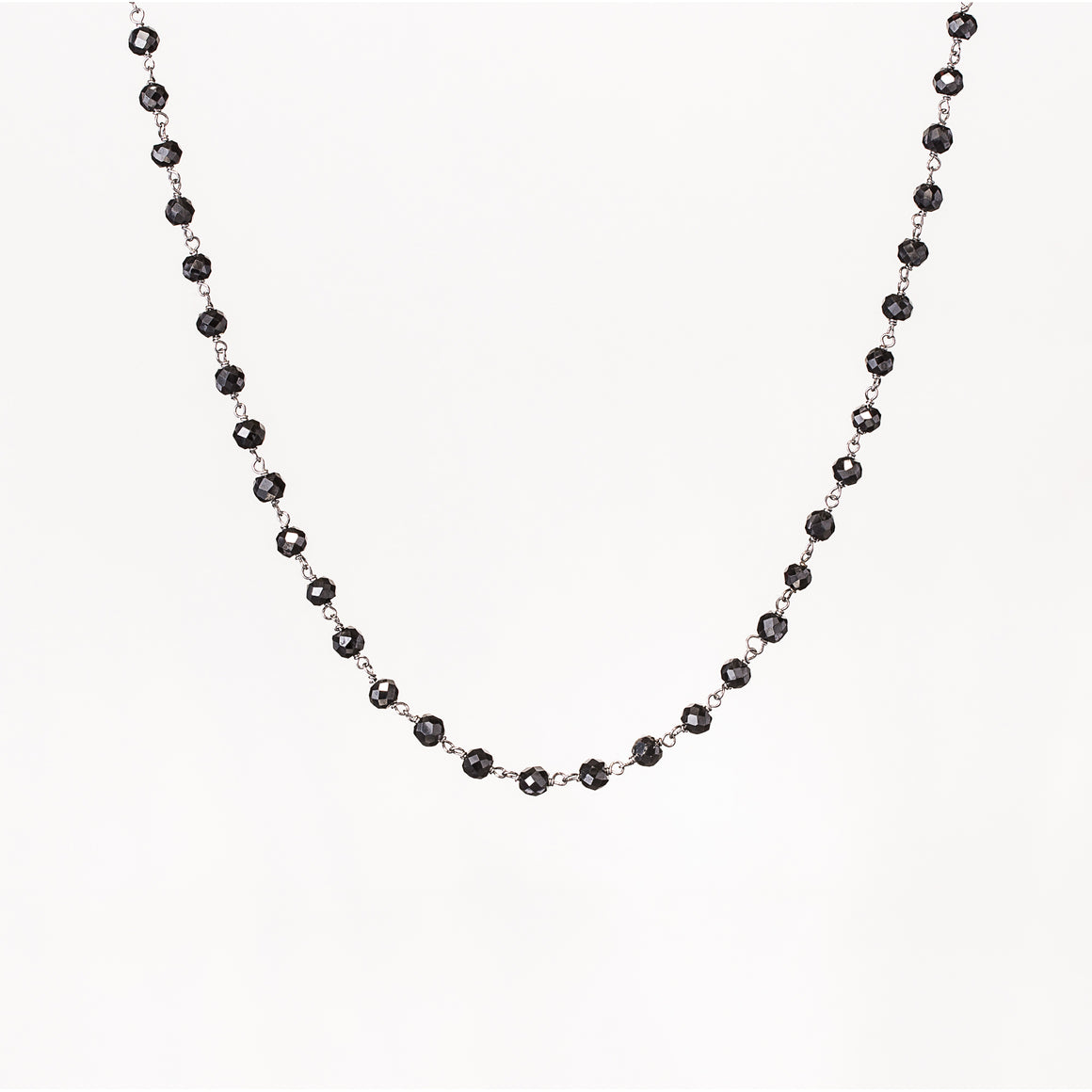 5mm Black Diamond Necklace in 925 Sterling Silver or 14K Gold