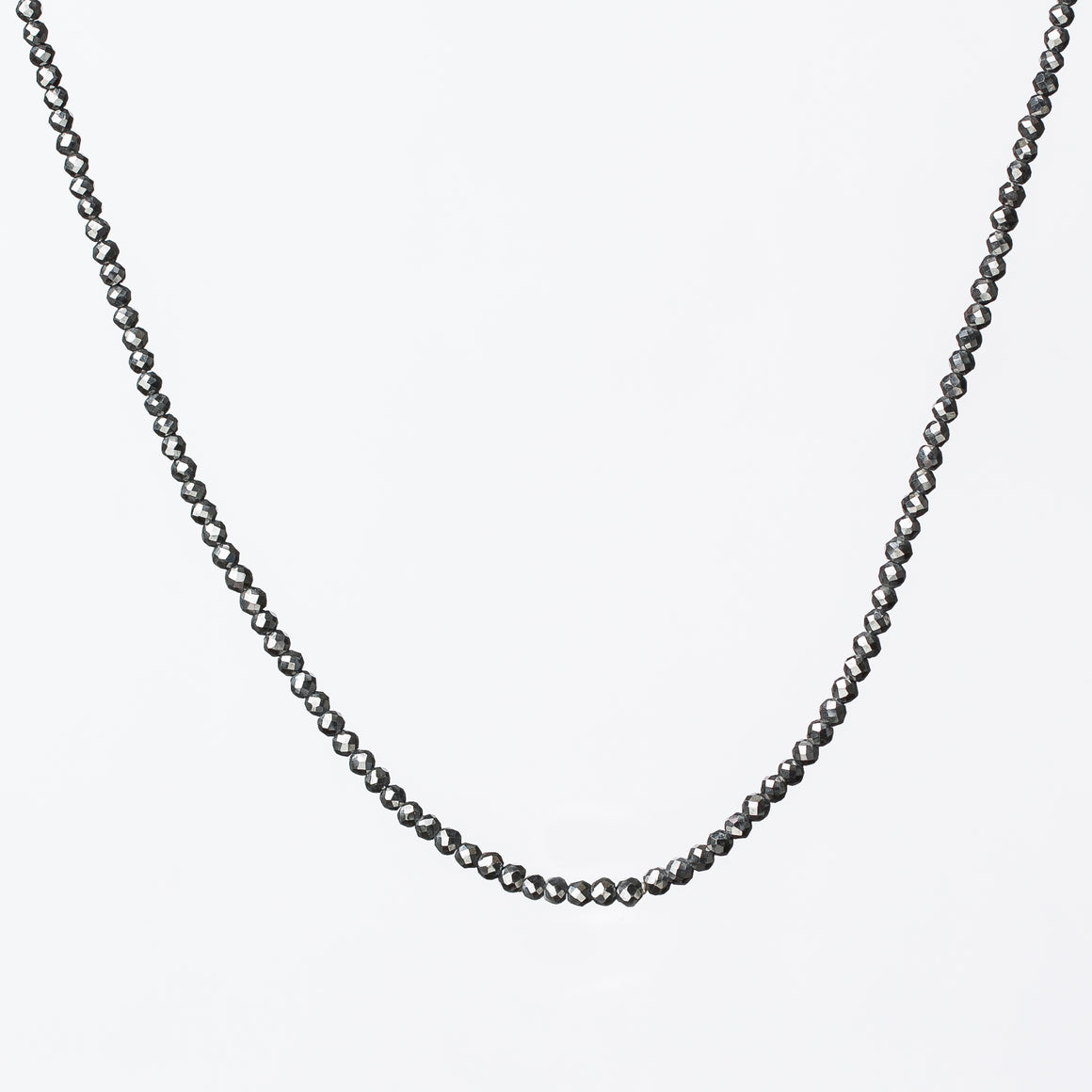 Black Diamond Faceted Necklace