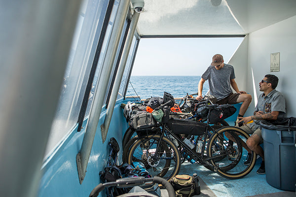 boat passengers with bikes