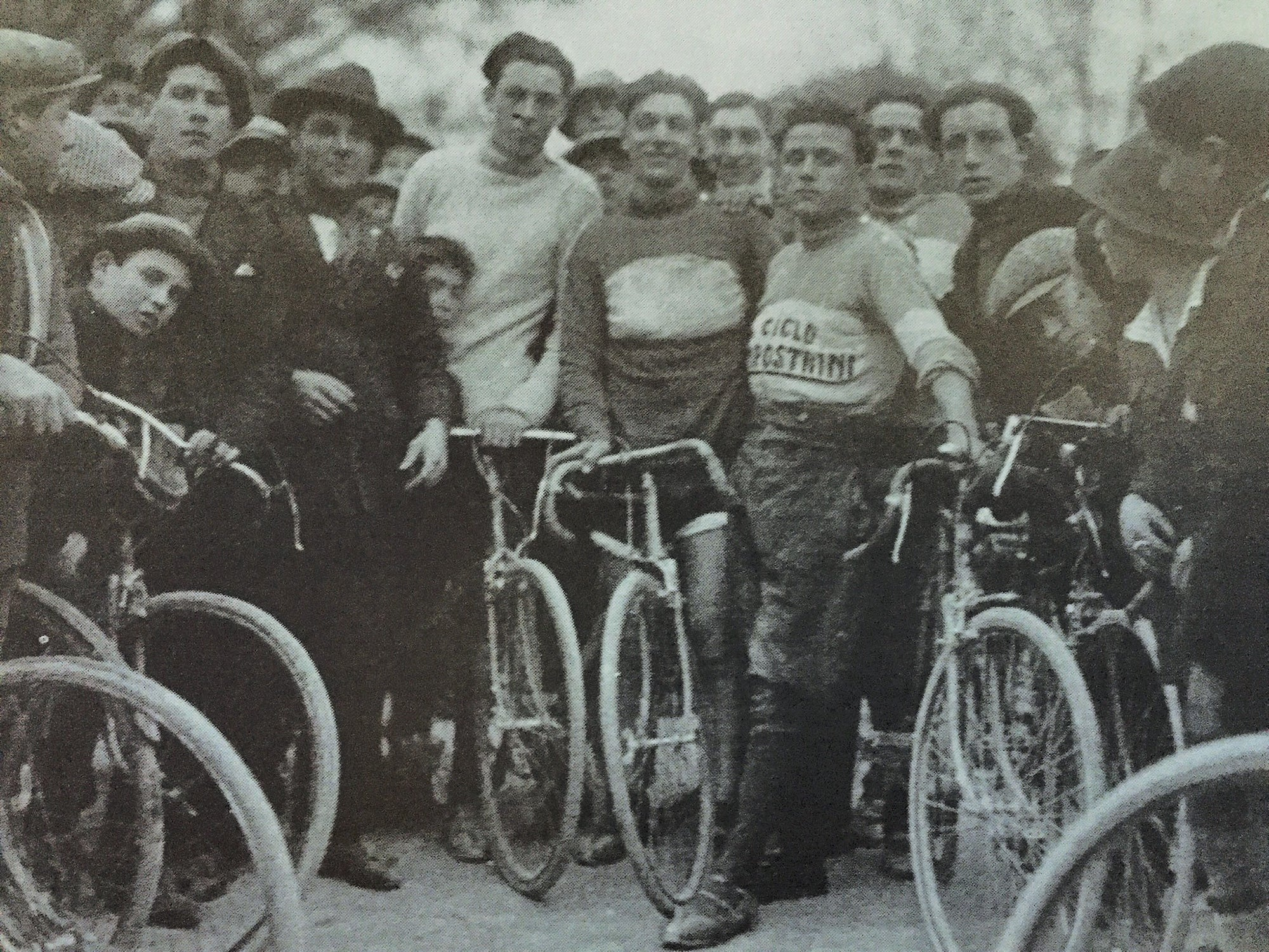 group of bicycle riders