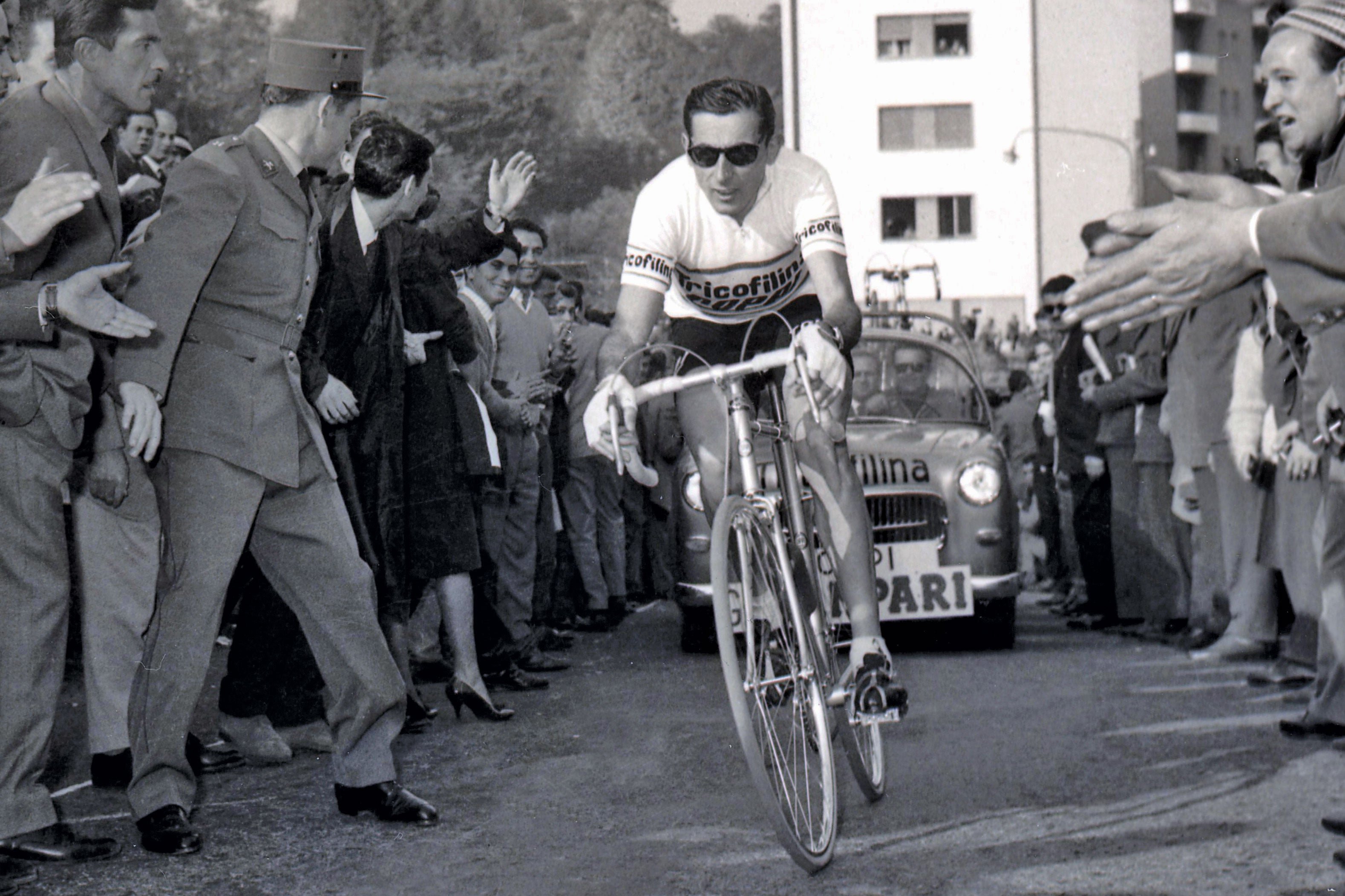 Fausto Coppi riding a Masi built frame for Team Tricofilina in 1959
