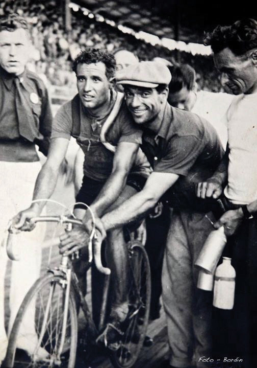 Faliero (Right) and Italian Sprinter Aldo Bini