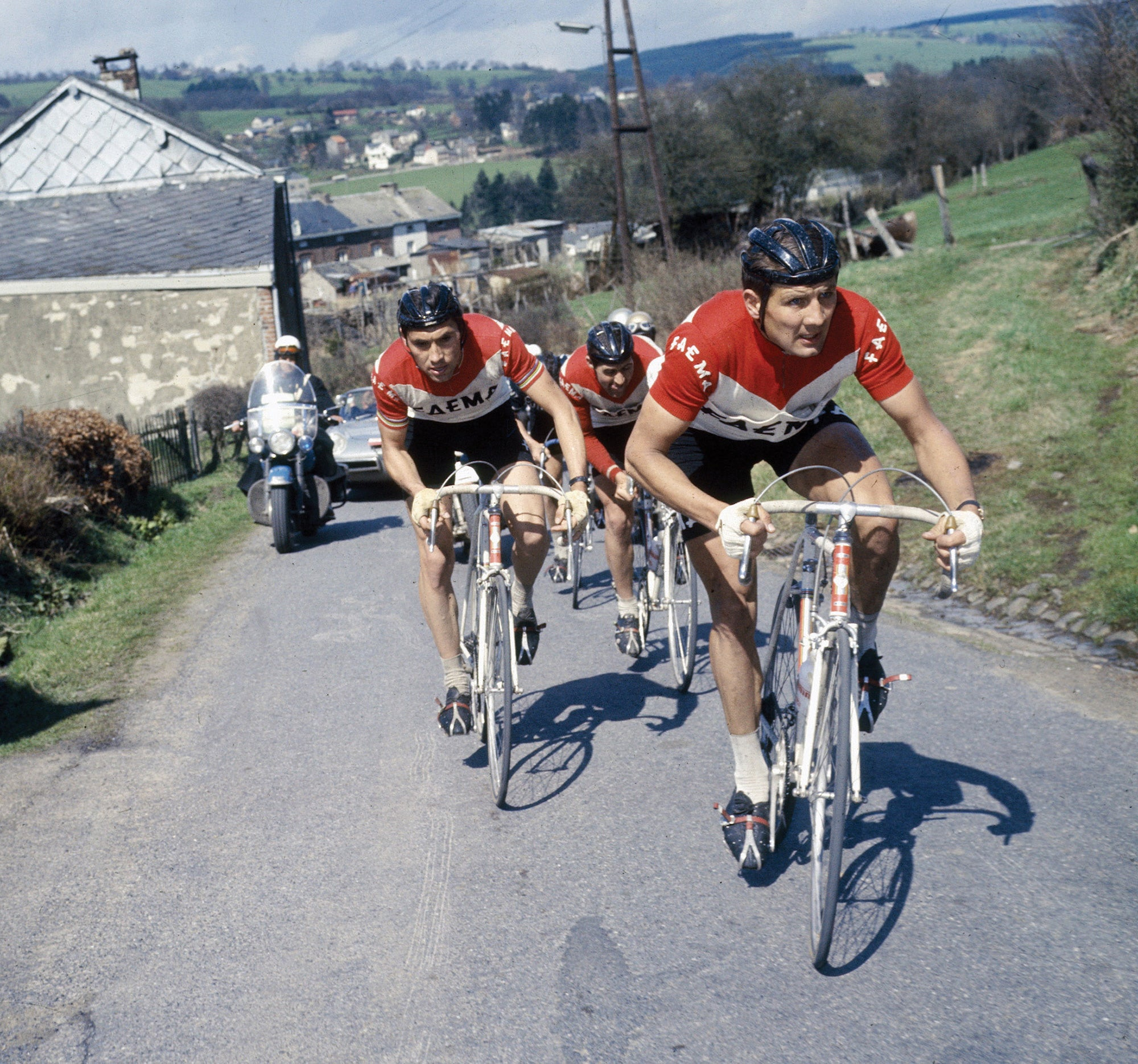 Eddie Merckx on a steep climb