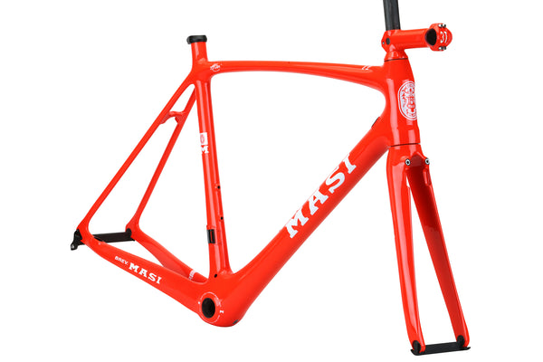 2019 Masi Evo Frameset Gloss Red Orange 3qtr.
