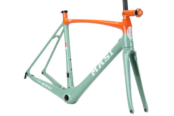 2019 Masi Evo Frameset Limpet Shell Blue Orange 3qtr.