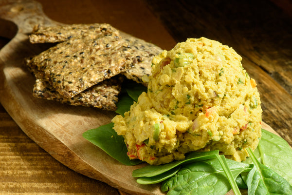 Curried Chickpea Salad & Crackers