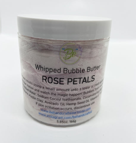 Whipped Bubble Butter - Rose Petals