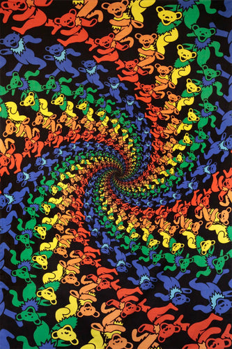 3D Tapestry - Grateful Dead Dancing Bears Spiral