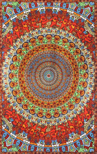 3D Tapestry - Bears Vibration