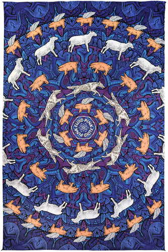 3-D Pink Floyd Animals Tapestry