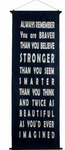 Cotton Inspirational Banner - Always Remember