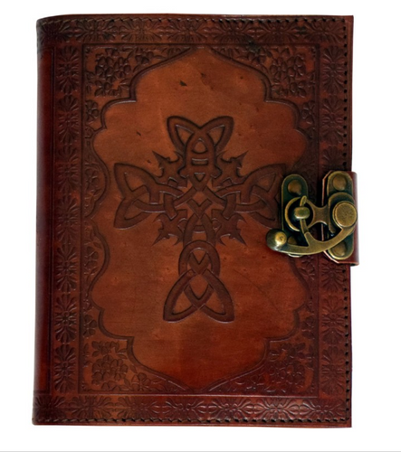 Leather-Bound Journal - Celtic Cross