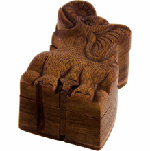 Hand-carved Wooden Puzzle Boxes