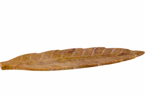Carved Leaf-shaped Incense Burner