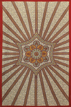 3D Tapestry - Red Starburst