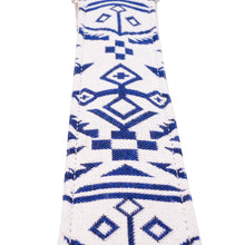 Anchors Away White and Blue Saddle Blanket Guitar Strap