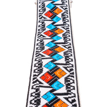 Black & Blue Argyle Vintage Ribbon Guitar Strap