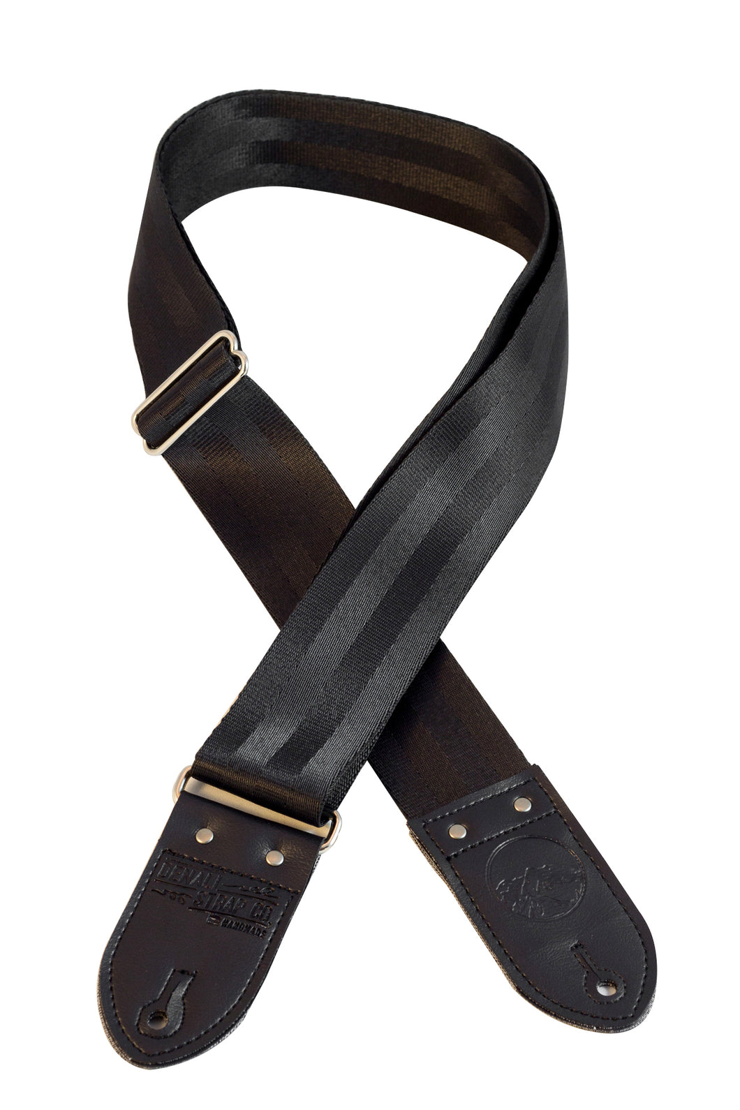 Black Seatbelt Guitar Strap