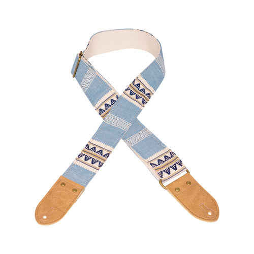 Blue & Tan Saddle Blanket Guitar Strap