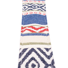 Blue and Red Southwest Saddle Blanket Guitar Strap