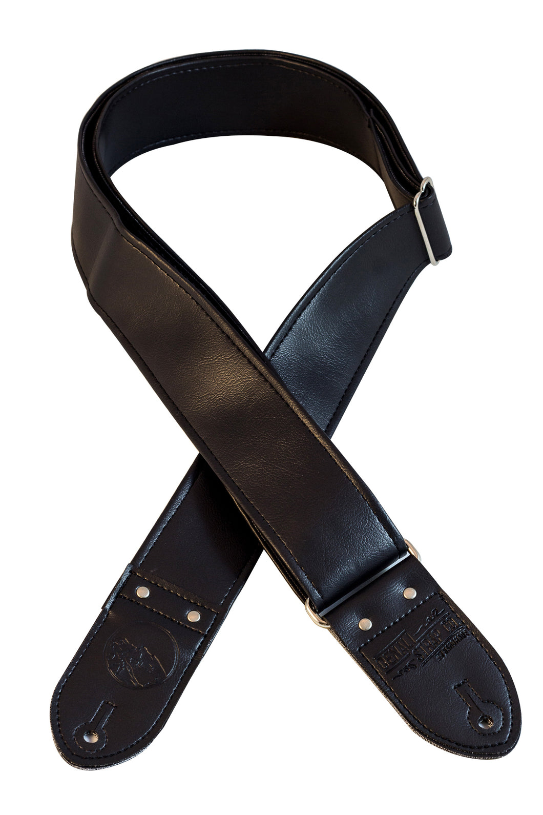 Classic All Black Guitar Strap