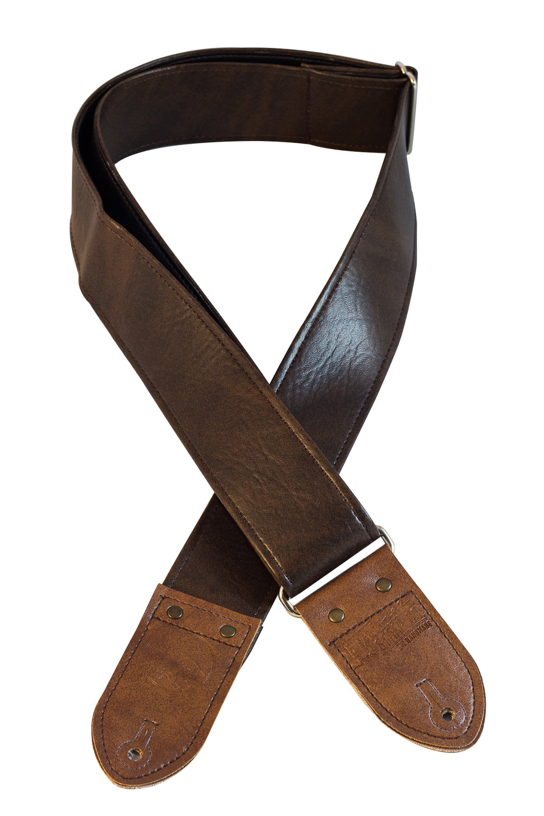 Classic Dark Brown Guitar Strap