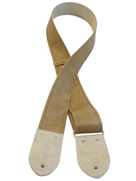 Classic Tan and Cream Guitar Strap