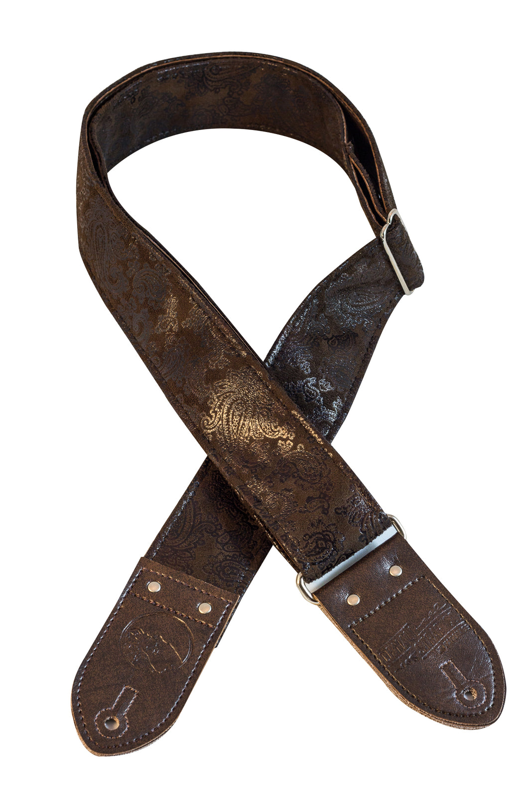 Dark Brown Paisley Guitar Strap