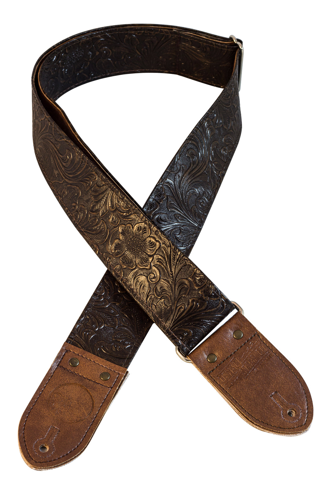 The Dark Brown Western Guitar Strap
