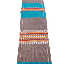 Grey & Blue Saddle Blanket Guitar Strap