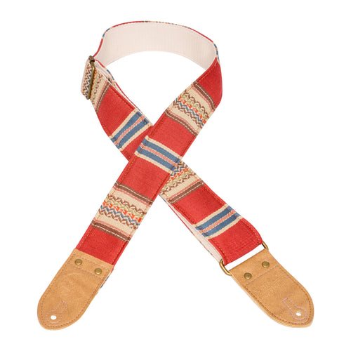 Red & Tan Saddle Blanket Guitar Strap