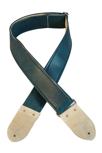 The Peacock Classic Vinyl Guitar Strap