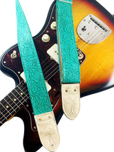 Turquoise Western Guitar Strap